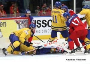 IIHF World Championship 2014  Jaromir Jagr 68, Tim Erixon #4, Simon Hjalmarsson #11, Vladimir Sobotka #17