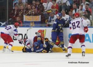 IIHF World Championship 2014  Viktor Tikhonov #10, Yevgeni Malkin #11, Mikael Backlund #60, Tim Erixon #4, Yevgeni Medvedev #82