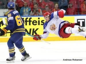 IIHF World Championship 2014  Mikael Backlund #60, Sergei Plotnikov #16