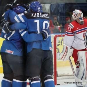 IIHF World Championship 2014  Jere Karalahti #10, Alexander Salak #53