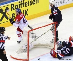 IIHF World Championship 2014  Tomas Hertl #48, Seth Jones #3, Tim Thomas #30,