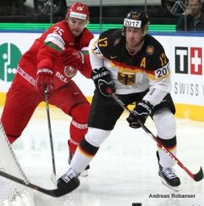 IIHF World Championship 2014  Oleg Yevenko #25 , Kai Hospelt #17