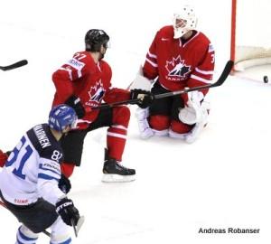 IIHF World Championship 2014 Iiro Pakarinen #81, Braydon Coburn #27, Ben Scrivens #30