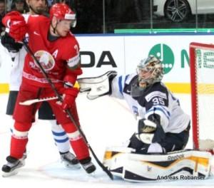 IIHF World Championship 2014  Vladimir Denisov #7 , Pekka Rinne #35
