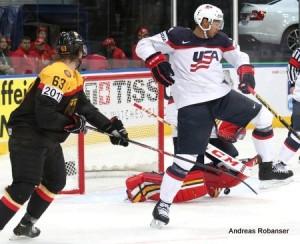 IIHF World Championship 2014  Alexander Weiß #63 , Tim Thomas #30, Danny DeKeyser #65
