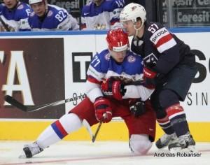 IIHF World Championship 2014 Anton Belov #77 , Tommy Wingels #57