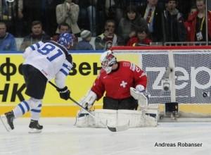IIHF World Championship 2014 Iiro Pakarinen #81, Reto Berra  #20