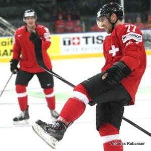 IIHF World Championship 2014  Thomas Rüfenacht #9 , Yannick Weber #77