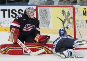 IIHF World Championship 2014  Tim Thomas #30 , Jyri Marttinen #28