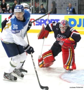 IIHF World Championship 2014  Dmitri Upper #36 , Tim Thomas #30