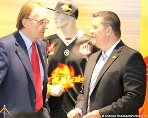 Vienna Capitals Präsident  Hans Schmid, Head Coach Tom Pokel © Andreas Robanser/Puckfans.at