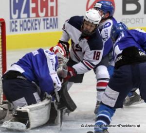 Ivan Hlinka Memorial  Thomas Novak #18 trifft gegen Finnland © Andreas Robanser/Puckfans.at