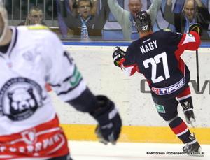Slovan Bratislava - Medvescak Zagreb  Bratislava Ladislav Nagy #27 © Andreas Robanser/Puckfans.at