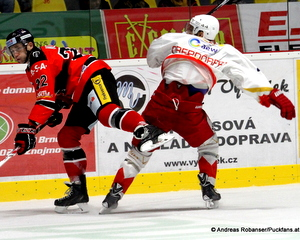 HC Orli Znojmo - HCB Südtirol Patrik Novak #22, Hannes Oberdörfer #44