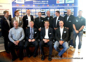 Die EBEL Head Coaches der Saison 2014/15 © Andreas Robanser/Puckfans.at