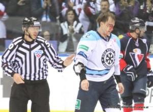 Slovan Bratislava - Sibir Novosibirsk KHL Saison 2014/2015  Oleg Gubin #22