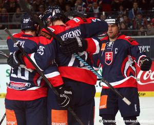 Team Slovakia - Deutschland Cup 2014 Slowakei - Kanada  © Christoph Perren/Hockeyfans.ch