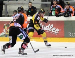 Vienna Capitals - Graz 99ers EBEL Saison 14/15 Matt Kelly #4, Mario Fischer #50