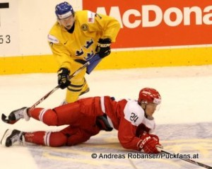IIHF World Junior Championship 2015 Air Canada Center, Toronto Dänemark - Schweden  Julius Bergman #7, Nikolaj Ehlers #24
