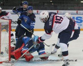 IIHF U18 World Championship 2015 Gold Medal Game USA - FIN Juuso Välimäki #6, Auston Matthews #19 © Andreas Robanser/Puckfans.at