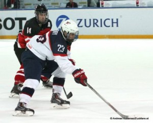IIHF U18 World Championship 2015 1/2 Final CAN - USA Matt Barzal #14, Troy Terry #23