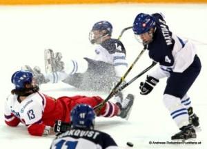 IIHF U18 World Championship FIN - CZE Pavel Zacha #13, Joonas Niemelä #14,  Jesper Mattila #4 © Andreas Robanser/Puckfans.at