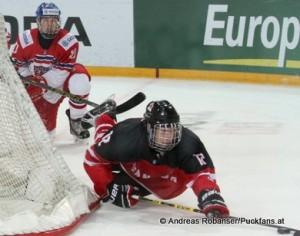 IIHF U18 World Championship  CZE - CAN Lukas Andel #10, Jensen Harkins  #12 © Andreas Robanser/Puckfans.at