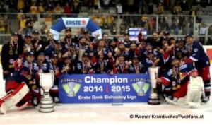 EBEL CHAMPION 2015 EC Red Bull Salzburg © Werner Krainbucher/Puckfans.at