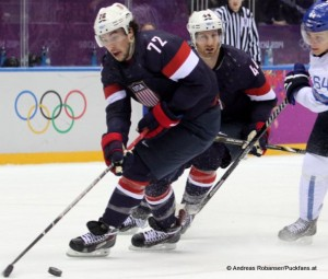 Olympic Winter Games 2014  Sochi - Bronze Medal Game FIN - USA Justin Faulk #72© Andreas Robanser/Puckfans.at