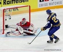 IIHF World Championship 2015 Preliminary RoundCZE - SWE  Alexander Salák #53, Game Winning Goal Oliver Ekman Larsson #23 © Andreas Robanser/Puckfans.at