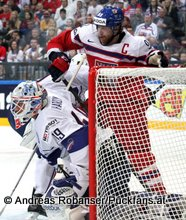 IIHF World Championship 2015 Preliminary Round CZE - FRA Florian Hardy #49, Jakub Voracek #93 © Andreas Robanser/Puckfans.at
