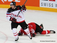 IIHF World Championship 2015 Preliminary Round SUI - CAN Sidney Crosby #87, Eric Blum #58 © Andreas Robanser/Puckfans.at
