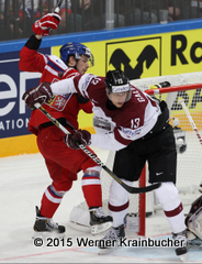 IIHF World Championship 2015 Preliminary Round LAT - CZE Guntis GALVINS (LAT) ⒸWerner Krainbucher/Puckfans.at