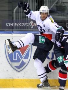 Mark Popovic #6 Medvescak Zagreb KHL Saison 2014-2015 © Andreas Robanser/Puckfans.at