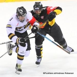 Champions Hockey League Vienna Capitals - Kärpät Oulun Albert Schultz Halle Jesse Puljujärvi #9, Philippe Lakos #4 ©Puckfans.at/Andreas Robanser