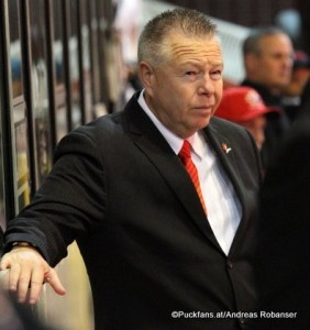 Team Canada  Head Coach Stan Butler  Memorial of Ivan Hlinka 2015  ©Puckfans.at/Andreas Robanser