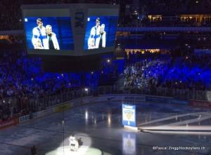 Ehrung von Teemu Selänne  Hartwall Arena  ©Pascal Zingg/Hockeyfans.ch