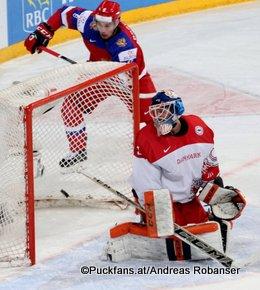 IIHF World Junior Championship 2016 Finland/Helsinki, Hartwall Arena Quarterfinal RUS - DEN Thomas Lillie #31, Ivan Provorov #9 ©hockeyfans.ch/Andreas Robanser
