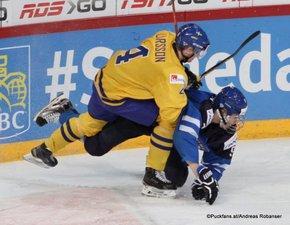 IIHF World Junior Championship 2016 Finland/Helsinki, Hartwall Arena Semifinal SWE - FIN Jacob Larsson #4, Jesse Puljujärvi #9 ©hockeyfans.ch/Andreas Robanser