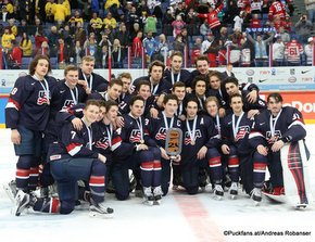 IIHF World Junior Championship 2016 Finland/Helsinki, Hartwall Arena Bronze Medal Game SWE - USA Team USA ©Puckfans.at/Andreas Robanser