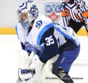 Jeff Glass #35 Dinamo Minsk KHL Saison 2015-16 ©Puckfans.at/Andreas Robanser