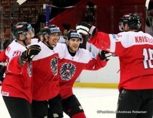 2016 IIHF World Championship Division I Torjubel Österreich ©Det MacRossi / Micha Karlsdottir
