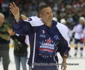 Lubomir Visnovsky Farewell Game Bratislava Slovnaft Arena Lubomir Visnovsky ©Puckfans.at/Andreas Robanser