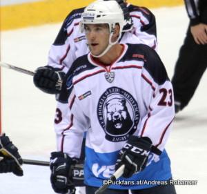 Bobby Butler #23 Medvescak Zagreb, KHL 2016-17 ©Puckfans.at/Andreas Robanser