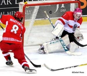 IIHF U20 World Championship 2017 Div IA Vladislav Martynyuk #8, Dominic Divis #1 ©Detlef Ross
