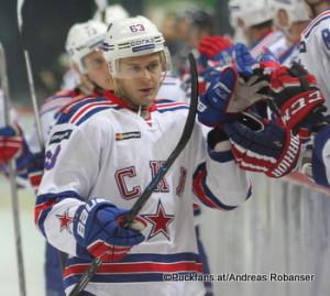Torjubel Yevgeni Dadonov SKA KHL 2016-2017 ©Puckfans.at/Andreas Robanser
