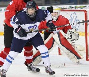 IIHF U18 World Championship 2017 FIN - SUI Teemu Engberg #18, Beat Trudel #30 ZS Poprad, Slovakia ©Puckfans.at/Andreas Robanser