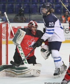 IIHF U18 World Championship 2017 FIN - CAN Ian Scott #1, Linus Nyman #20 ZS Poprad, Slovakia ©Puckfans.at/Andreas Robanser