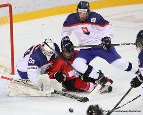 IIHF U18 World Championship 2017 SUI - SVK Juraj Sklenar #30, Adam Ruzicka #8 ZS Poprad, Slovakia ©Puckfans.at/Andreas Robanser