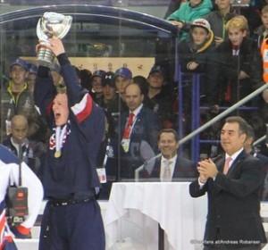 IIHF U18 World Championship 2017 Finale USA - FIN Brady Tkachuk #7, Frank Gonzales IIHF ZS Poprad, Slovakia ©Puckfans.at/Andreas Robanser